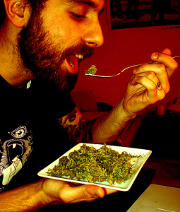 Eating cannabis